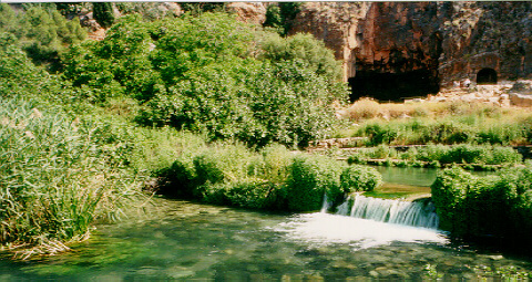 The Spring. One of the sources of the river Jordan